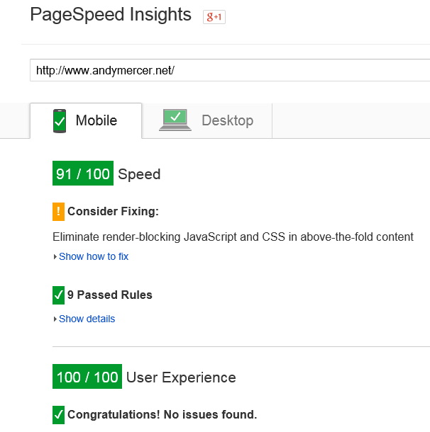 pagespeed91